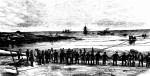etching from town and country journal 1876 laying of telegraph cable at La Perouse