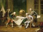 Louis-XVI-donnant-ses-instructions-au-capitaine-de-vaisseau-La-Perouse-a-RMN-(Chateau-de-Versailles),-Gerard-Blot